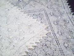 Ажурный оренбургский платок